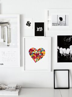 Printable Download Love Heart Print Poster Art Polygon Heart Wall Art Decor Design - PRINTABLE DOWNLOAD on Etsy, $9.00