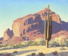 Archival Canvas & Fine Art Prints, Quality Posters, & Framed Reproductions of Red Rocks and Cactus by Maynard Dixon. Choose the size & framing for your style. Landscape Art, Landscape Paintings, Western Landscape, Imagen Natural, Clemente Orozco, Maynard Dixon, Southwestern Art, Southwestern Paintings, Desert Art