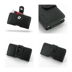 PDair Leather Case for LG Optimus L5 II E450 - Horizontal Pouch Type (Black)