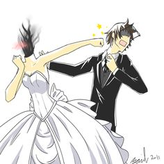 Married. Wait, how is Celty blushing?