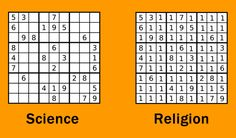 Sudoku science vs religion.