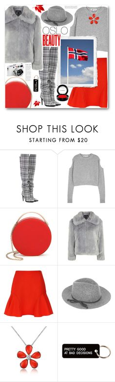 """""""Oslo Travel Outfits"""" by ucetmal-1 ❤ liked on Polyvore featuring Off-White, McQ by Alexander McQueen, Eddie Borgo, Topshop, Victoria, Victoria Beckham, Accessorize, Del Gatto, Various Projects, MAC Cosmetics and Leica"""
