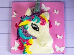 Unicorn cake without fondant / Unicorn buttercream cake / Unicorn cake Tutorial  Anleitung zu einer Einhorn Torte ohne Fondant sondern nur mit Buttercreme verziert  #unicorn #tutorial #cake #motivtorte #buttercream #buttercreme