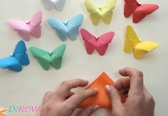 Wow, take your crafting to the next level with these amazing origami flowers at Go Origami. Origami is a good … Paper Butterfly Crafts, Paper Butterflies, Paper Flowers, Easy Origami Butterfly, Origami Butterfly Instructions, Butterfly Party Decorations, Easy Origami For Kids, Paper Party Decorations, Butterfly Mobile