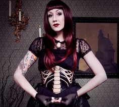 CUSTOM MADE TO ORDER Just in time for Halloween! The original Contrived To Charm Ribcage Corset.