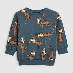 Kids Sweatshirts boy cotton animal print