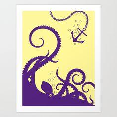 octo Art Print by Jonah Block | Society6