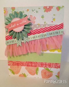 What a Cutie Card by @Holly Anderson