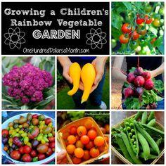 Growing a Children's Rainbow Vegetable Garden