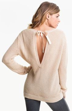 Hinge® Open Back Thermal Knit Sweater@Kiki@liz  - on sale now at nordstroms but only in a med  kik for sure