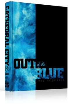 """Yearbook Cover - Cathedral City High School - """"Out of the Blue"""" Theme - School…"""