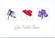 Get Well Cards, original watercolors by Mickey Baxter-Spade.