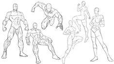 Let's practice some more superhero comic style poses today. These are always great way to warm up and provoke some ideas. Remember you can slow down or pause. Superhero Poses, Superhero Design, Demon Drawings, Cool Drawings, Comic Kunst, Comic Art, Spiderman Comic Books, Spiderman Drawing, Male Figure Drawing