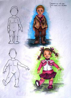 studi di figurini (moda bimbi)
