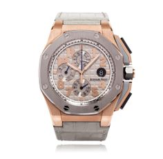 """Audemars Piguet Royal Oak Offshore LeBron James Limited Edition Mens Watch 26210OI.OO.A109CR.01 Swiss-made, automatic movement, 44mm 18-carat Rose Gold case with Titanium bezel and grey """"Méga Tapisserie"""" pattern, scratch-resistant sapphire glass and water-resistant to 100 metres. .www.thediscountwathcgallery.com"""