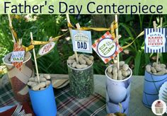 Fathers Day Table Centerpiece :: Printables on HoosierHomemade.com