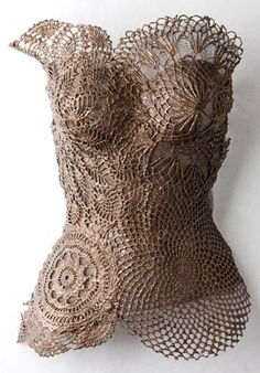 Doily art!!!! beautiful art torso -