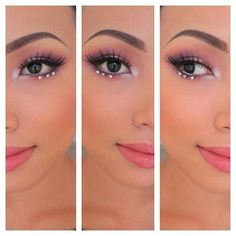 rhinestones makeup tumblr - Google Search More