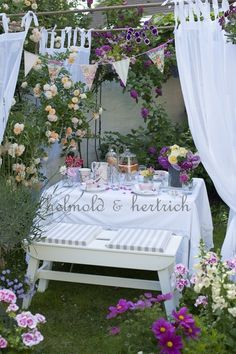 Lovely setting for a summer garden tea party