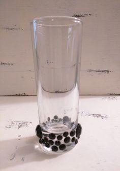 Lucky Shamrock Tall Shot Glass Oz With Dark Green Permanent Vinyl - Vinyl decals for shot glasses