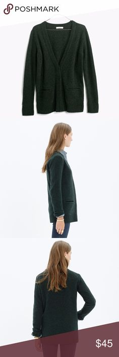 Madewell Cardigan ❧ Condition: Excellent  ❧ Description: This cozy sweater is 100% wool and perfect for the cold weather! Beautiful forest green that goes with anything :)  ❧ Price: Open to offers! Madewell Sweaters Cardigans