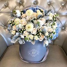 Send Mixed Flowers to Los Angeles - JLF Flower Boutique Hat Box Flowers, Flower Box Gift, Flower Boxes, Silk Flowers, Spring Flowers, White Flowers, Beautiful Flower Arrangements, Floral Arrangements, Beautiful Flowers