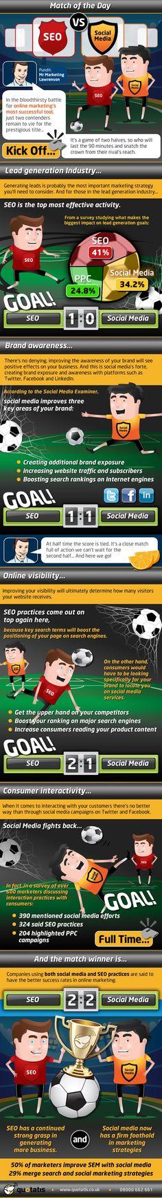 SEO vs. Social Media - Infographic