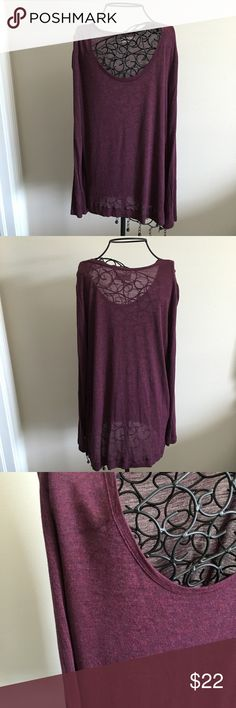"""Lou & Grey long sleeve maroon top Only worn once, good condition. Great color. Soft! Demi sheer as you can see in photos. 100% modal. Measurements lying flat: chest 19 inches. Length of front 27.5 inches length of back 30 inches. Sides split 3 inches up from front.  ❌ No trades or off Poshmark transactions.   👌🏻Quick shipping.   💁🏻Offers welcome through """"Make an Offer"""" feature.   👗👠 Bundle discount.   ❔ Feel free to ask any questions. Lou & Grey Tops Tees - Long Sleeve"""