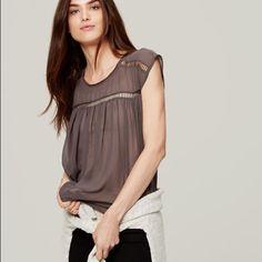 LOFT Ladder Lace Top LOFT blouse size S worn once LOFT Tops