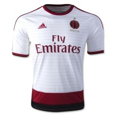 14-15 AC Milan Away White Soccer Jersey Shirt