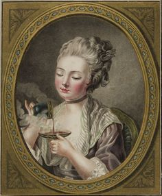 The Woman Taking Coffee by Louis Marin Bonnet, 1774.