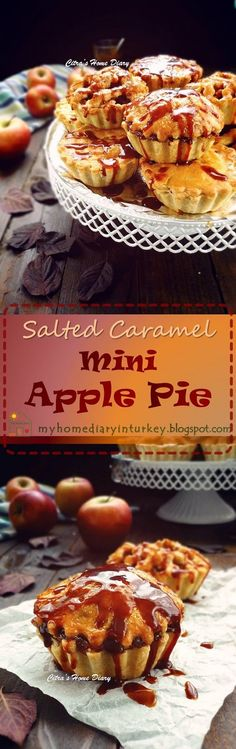 Apple pie with Salted Caramel Sauce. #applepie #saltedcaramel #pierecipes #fallbaking #apelpie