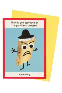 Angry Welsh Cheese Card - Cards - Gifts