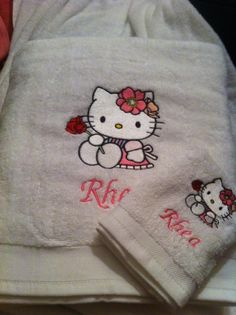 Kitchen towel with Hello Kitty embroidery - Kim's - Gallery - Machine embroidery forum