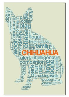 Chihuahua Text Art Magnet