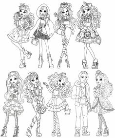 Ever After High Rebels Coloring Pages Sketch Page