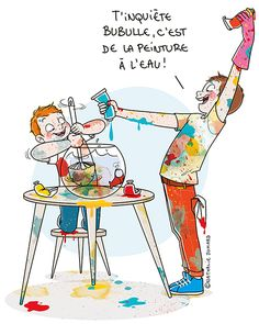 """A French Artist Creates Honest Illustrations That Make Us Say, """"Mom, I'm Sorry for Everything"""" Caricature, Book Portfolio, Sorry For Everything, Super Mum, Family Illustration, Image Clipart, Image Fun, Humor Grafico, French Artists"""