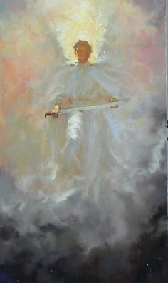 Angel protection - awesome Brian Jekel - Guardians of the Nativity Angels Among Us, Angels And Demons, Art Prophétique, Op Art, Angel Warrior, I Believe In Angels, Prophetic Art, Angel Pictures, Angels In Heaven