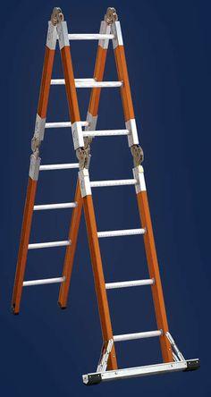 Specialty Ladders. Aluminum, Fiberglass & Tripod Articulated Ladder - - Fiberglass Articulated Ladders L-3092 Series