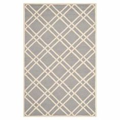 """Anchor vibrant decor or bring a pop of pattern to neutral palettes with this hand-tufted wool rug, showcasing a classic lattice motif.    Product: RugConstruction Material: 100% WoolColor: Silver and ivoryFeatures:  Made in IndiaHand-tufted 0.5"""" Pile heightNote: Please be aware that actual colors may vary from those shown on your screen. Accent rugs may also not show the entire pattern that the corresponding area rugs have."""