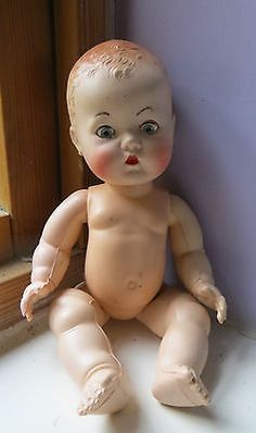 "#Vintage #1950s bnd hard plastic baby doll  9"" high - requires #joints tightening,  View more on the LINK: 	http://www.zeppy.io/product/gb/2/282023973984/"