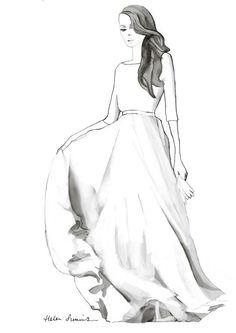 love my dress illustration by Helen Simms website