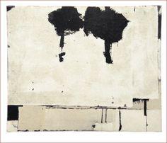 Hideaki Yamanobe Zwei Bäume - 2006, Mischtechnik und Papier auf Holz, 47x57cm (hy008) (6/12)