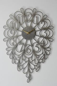 Gatehouse Wall Clock, Vines - anthropologie.com