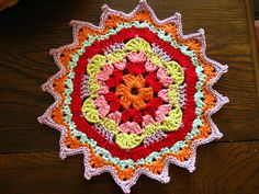 Colourful Crochet Doily