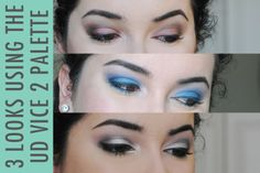 3 Looks Using the Urban Decay Vice 2 Palette #makeup #beauty #urbandecay