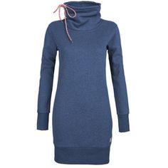 Armedangels Jerseykleider Mora washed blue melange