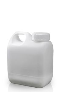 500ml White Plastic Jerrycan & 38mm/400 White IHS Screw Cap