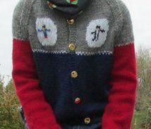 Knitted jacket for children. Stockinette, Knit Jacket, Aud, That Look, Graphic Sweatshirt, Stitch, Superhero, Sweatshirts, Children