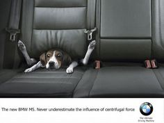 Never underestimate the influence of centrifugal force - BMW